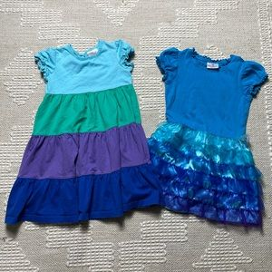 S/2 Girls Hanna Andersson Ruffle S/S Dresses 5-6